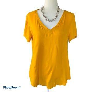 Alexander Jordan yellow short sleeve top Size M